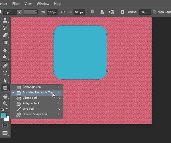 画一个圆角的矩形